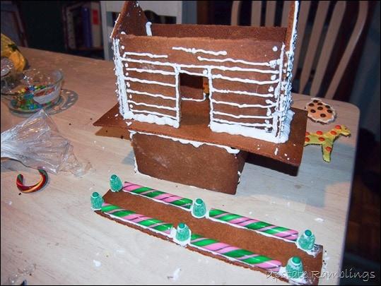Assembling the Gingerbread Noah's Ark