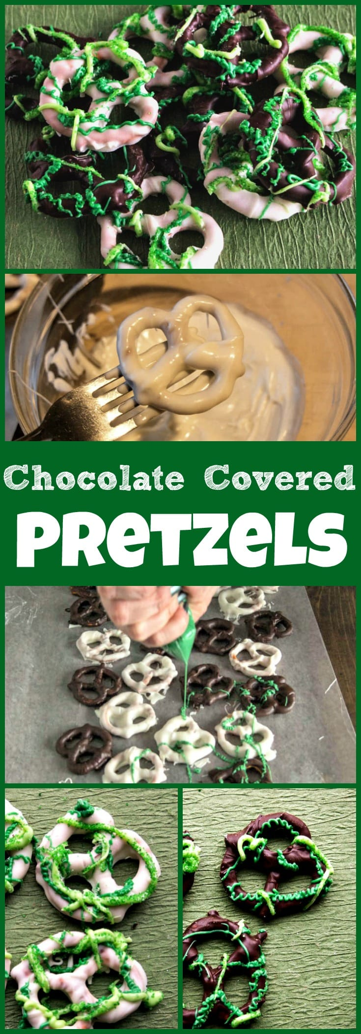 Chocolate Covered Pretzels recipe for St. Patrick's Day - an easy sweet and salty treat
