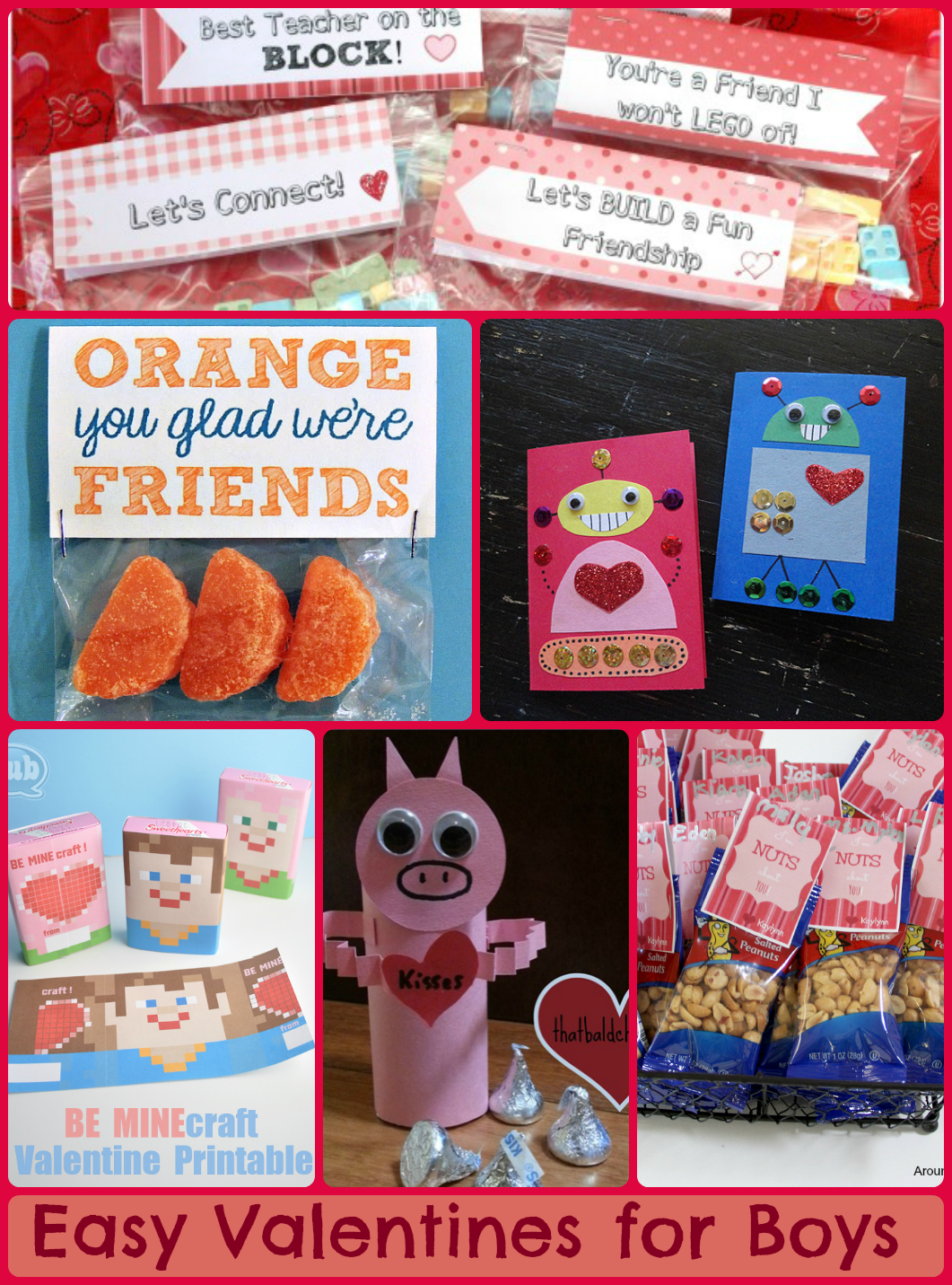 Easy Valentine's Ideas that are not sappy and will appeal to boys