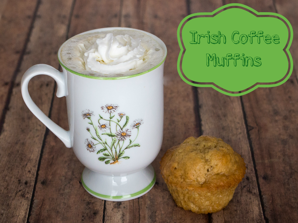 Irish Coffee Muffins #muffins #stpatricksday