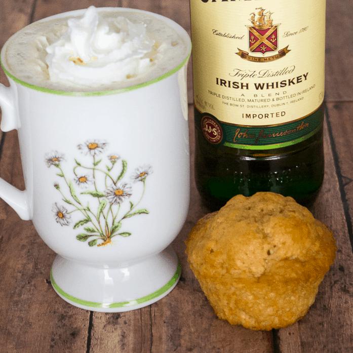 Irish Coffee Muffins with Irish whiskey #muffins #stpatricksday