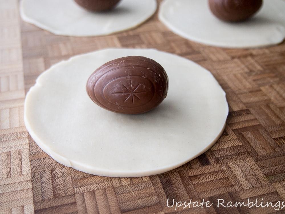 Making Cadbury Egg Pies