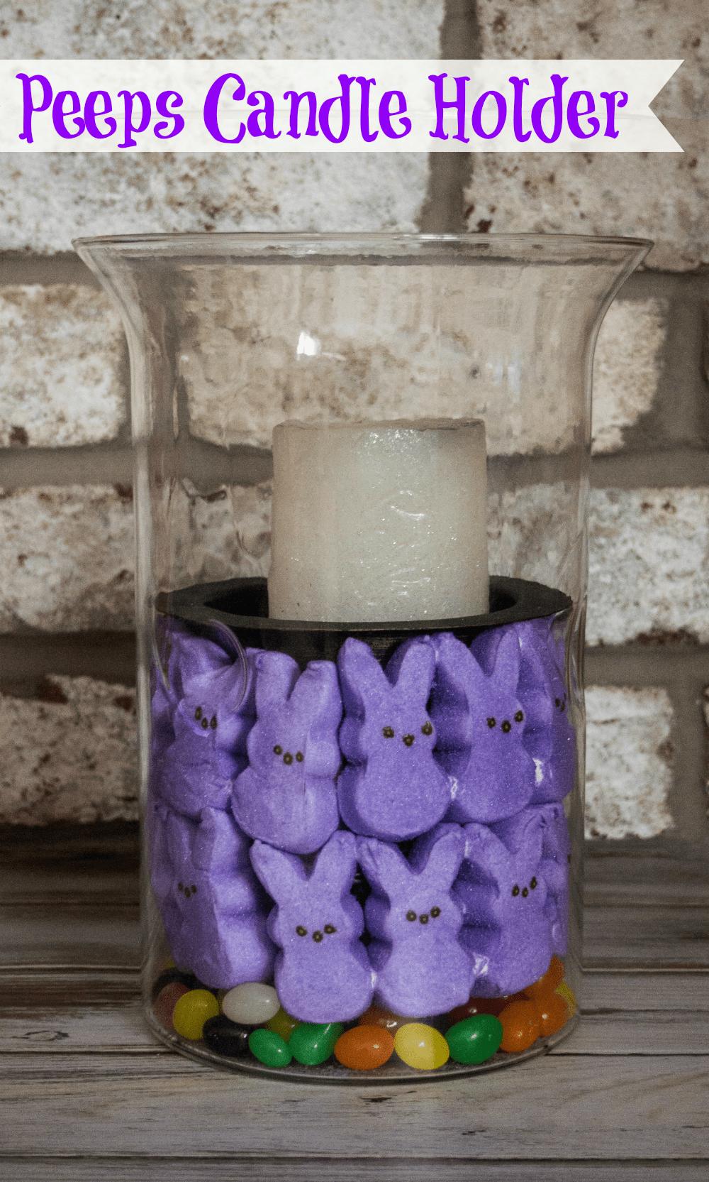 Peeps Candle Holder #easter #DIY