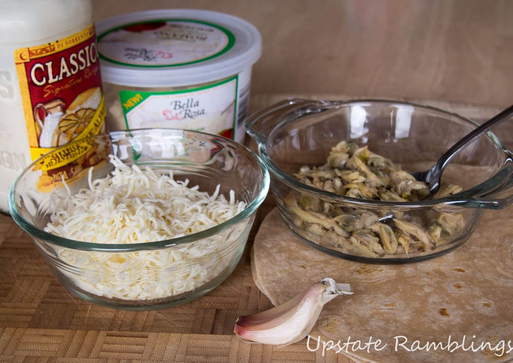 Ingredients for White Clam Pizza
