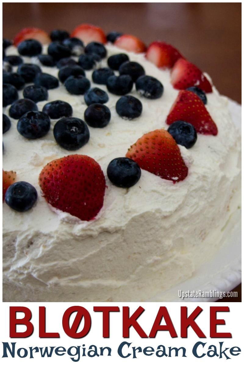 This Blotkake is a traditional Norwegian dessert also called Norwegian Cream Cake