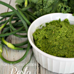 Kale & Garlic Scape Pesto Recipe #PGeveryday