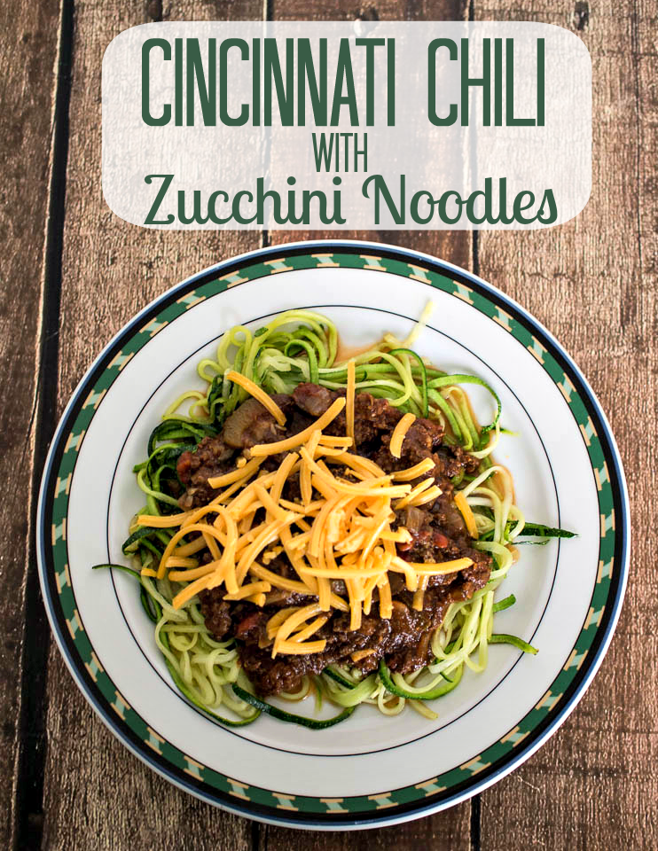 Cincinnati Chili with Zucchini Noodles