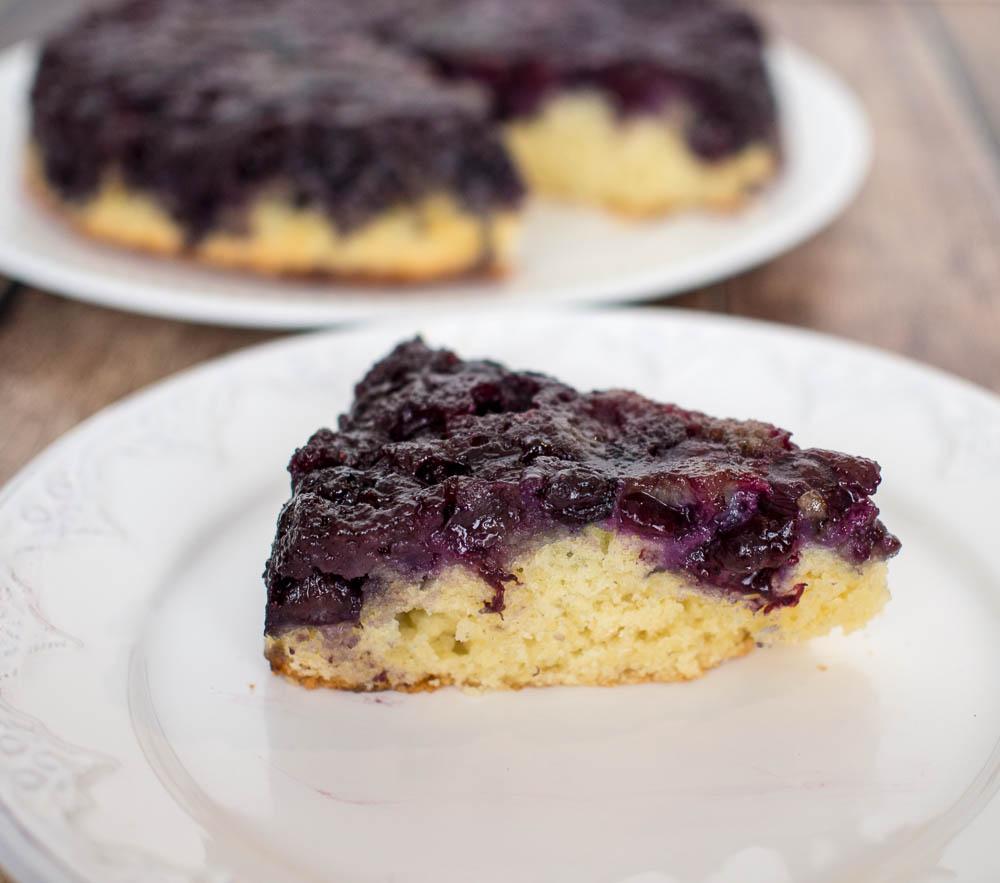 Blueberry Upside Down Cake | Blueberry Dessert | Easy Cake | Caramelized Blueberries on Cake