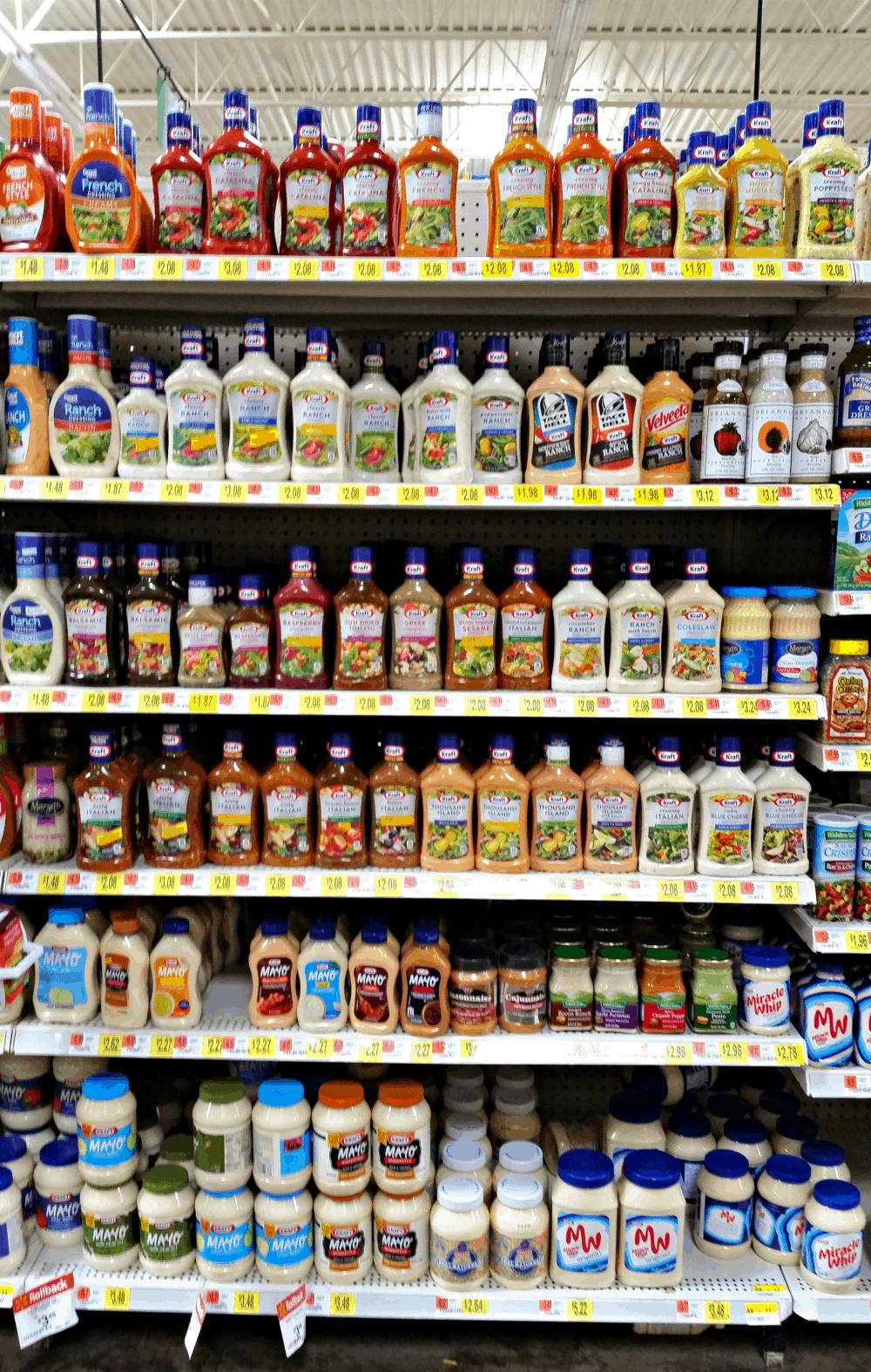 Kraft dressings at walmart #FoodDeservesDelicious #shop