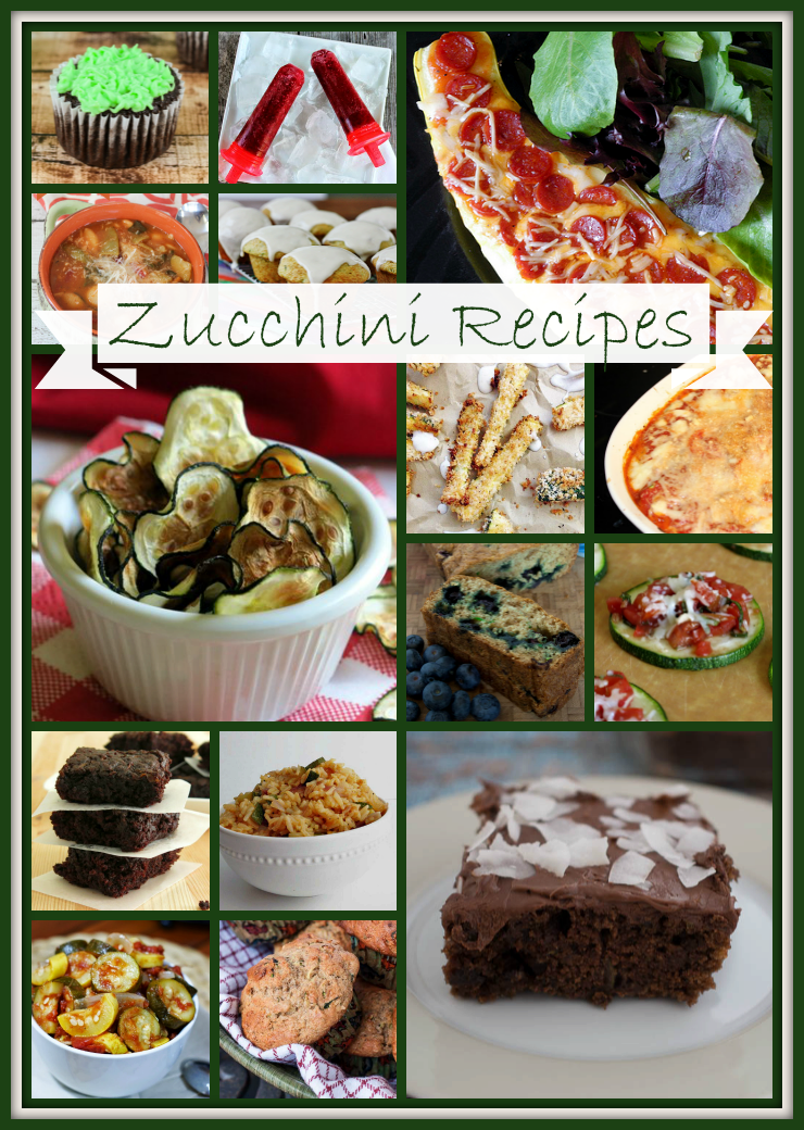 Zucchini Recipes - Delicious and creative zucchini recipes for using up all the extra zucchini from your garden