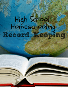 High School Record Keeping for Homeschoolers