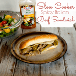 Spicy Italian Beef Sandwich with Vinaigrette Dressing