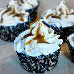 Apple Spice Cupcakes with Caramel Sauce