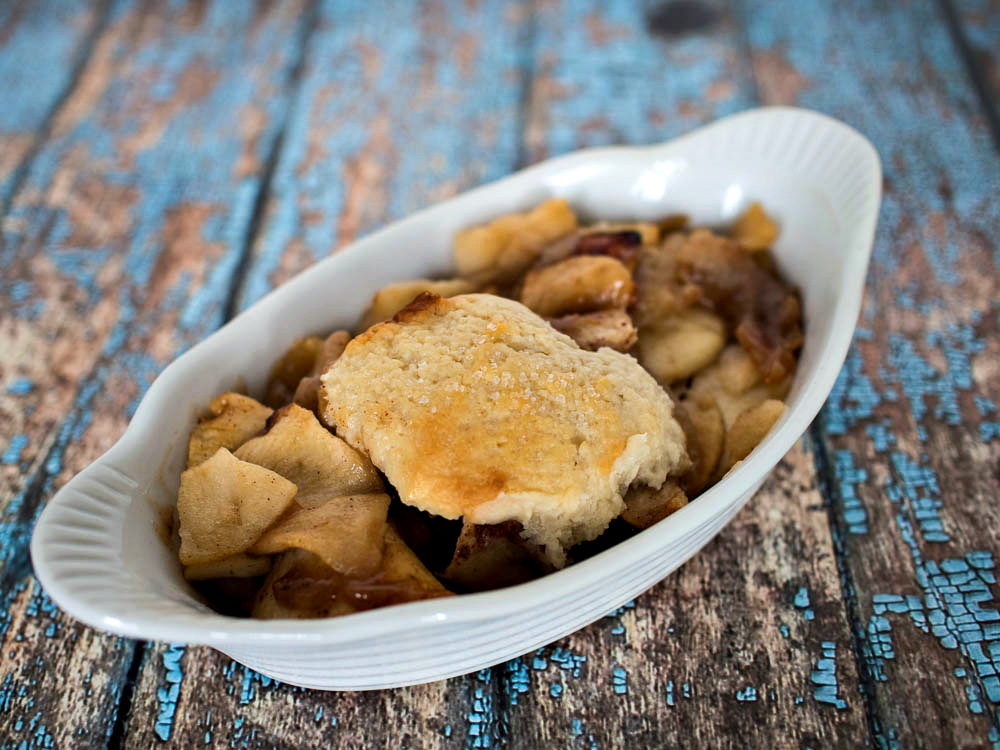 Apple Cobbler with Biscuit Topping