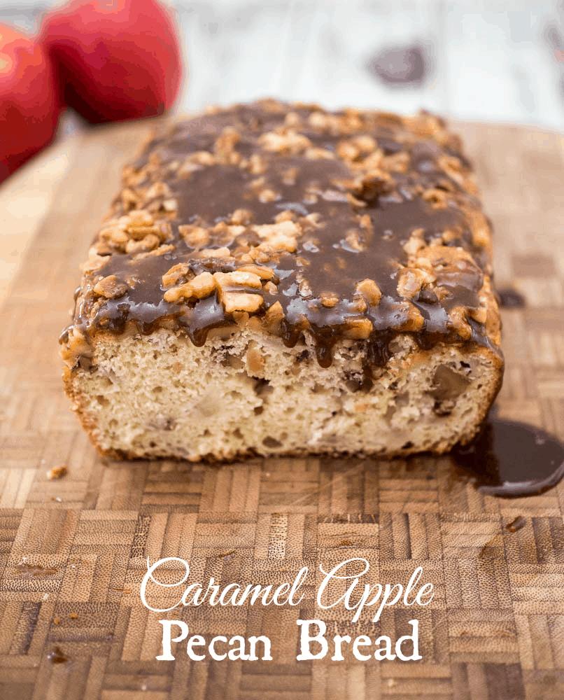 Caramel Apple Pecan Bread - A tasty quick bread for the holidays | Caramel Apple Bread | Easy Apple Bread Recipe | Quick Bread