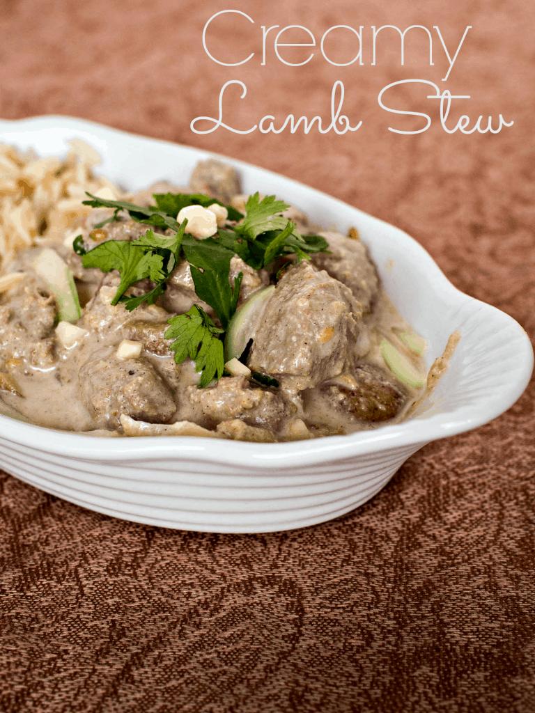 Creamy Lamb Stew with Potatoes and Yogurt