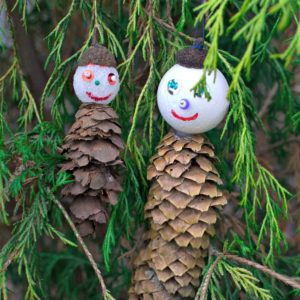 Pine Cone Men Ornaments