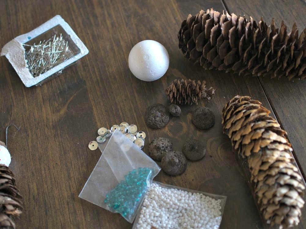 Pine Cone Ornament Supplies