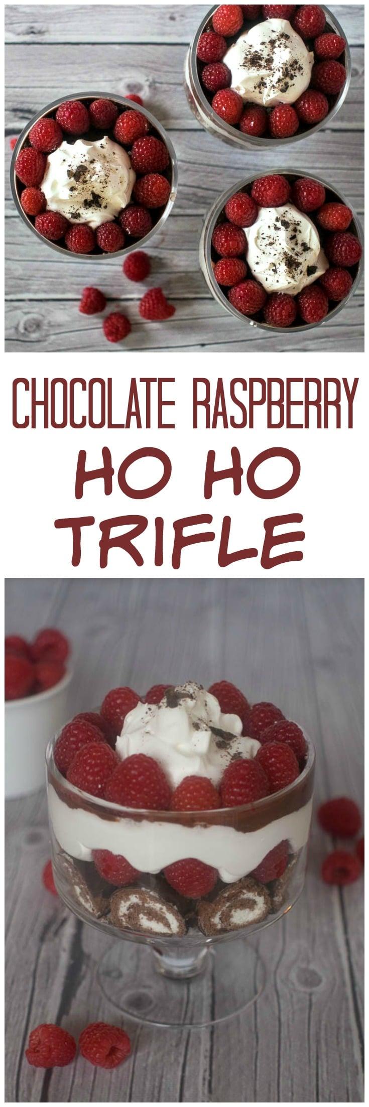 Chocolate Raspberry Ho Ho Trifle | Easy Dessert | Valentine's Day | HoHo | Trifle | 15 Minute Dessert