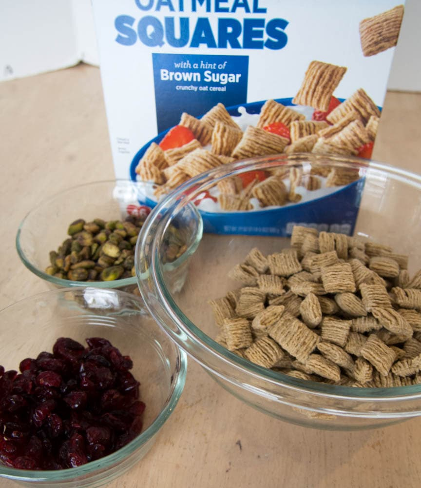Ingredients for Cranberry Pistachio Cereal Bars