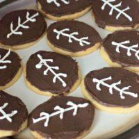 Simple Football Sugar Cookies