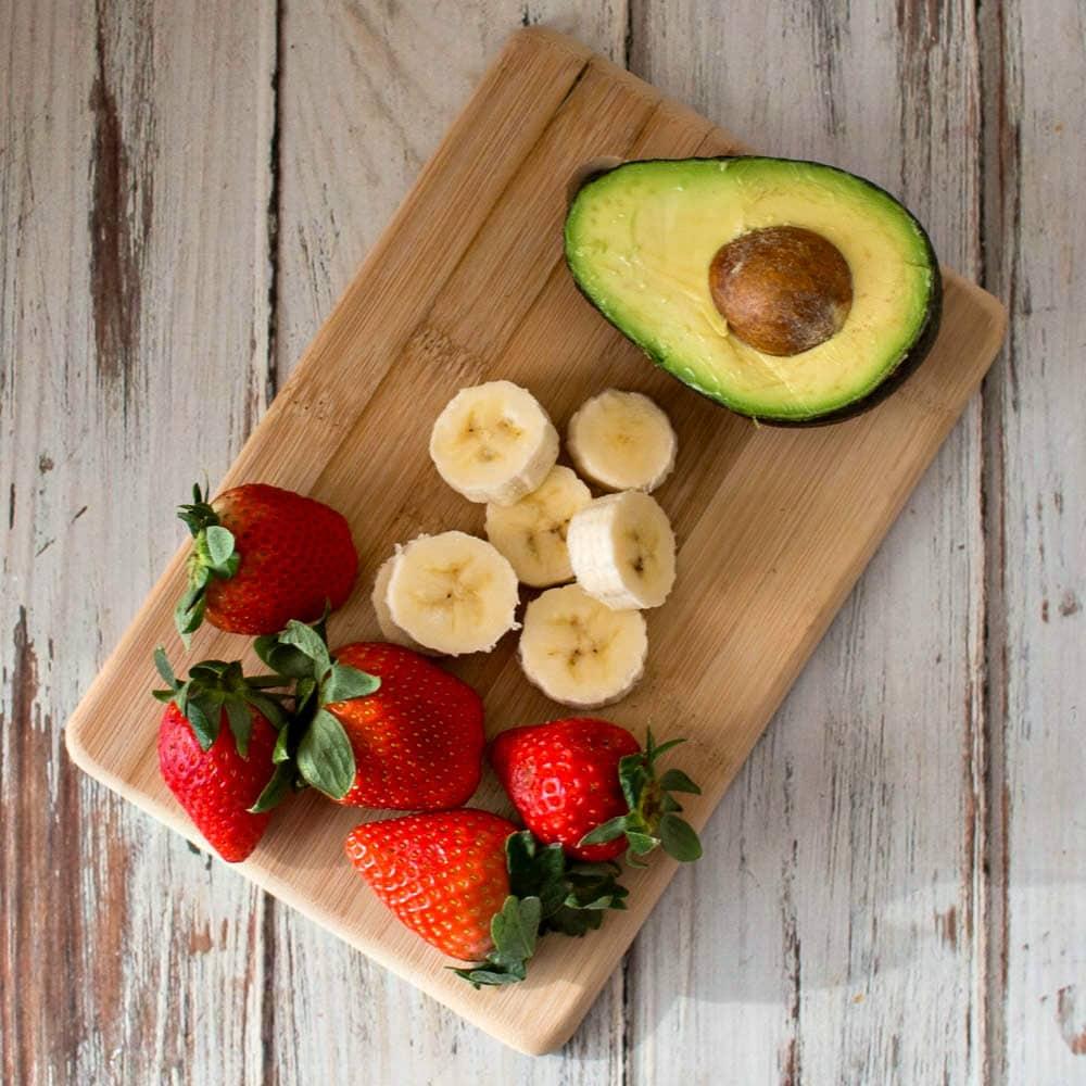 strawberry banana and avocado for smoothie recipe