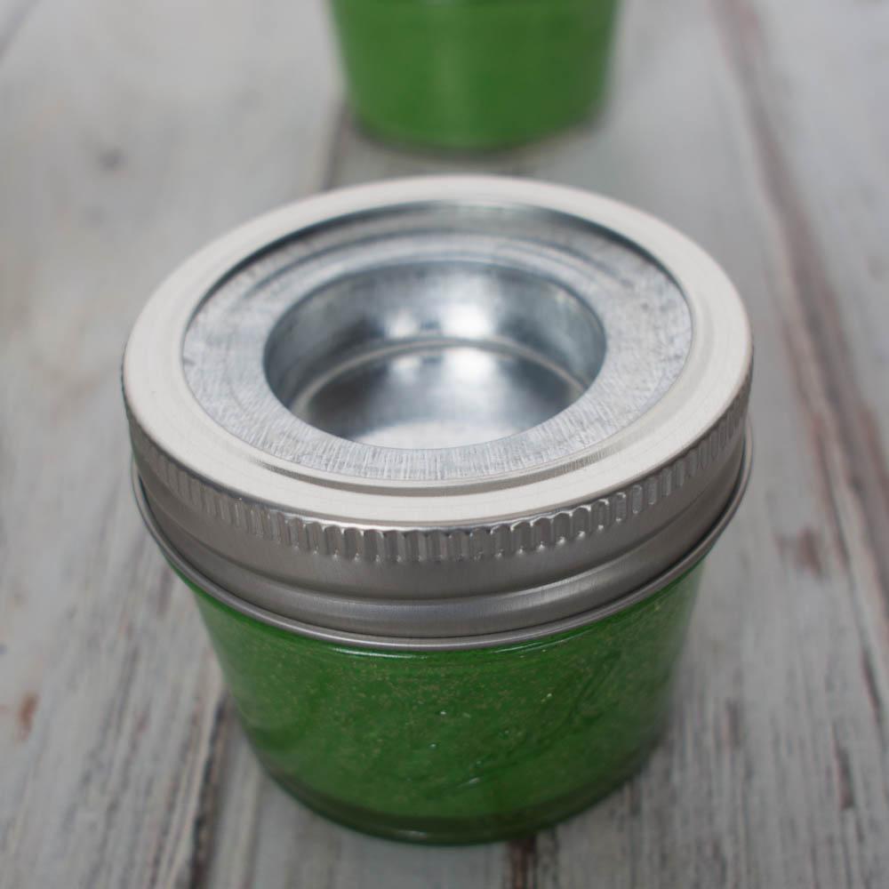 Mason Jar Tealights - an easy decorating idea for St. Patrick's Day