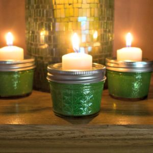 Mason Jar Tealights for St. Patrick's Day