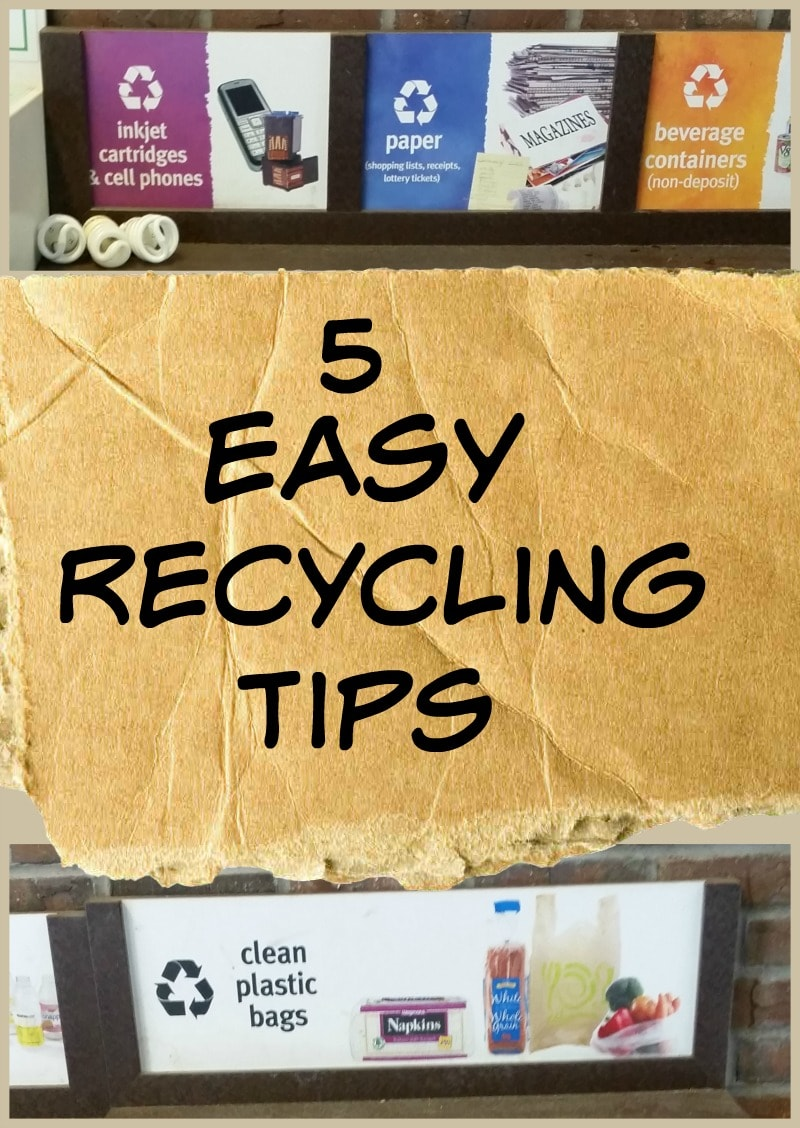 5 Easy Recycling Tips - great ways to help your family help the environment