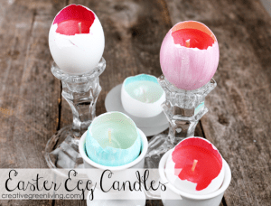 How to make Easter candles with real egg shells!
