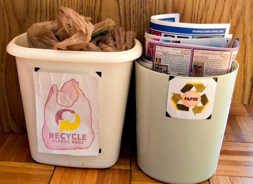 recycling containers 5 Easy Recycling Tips - great ways to help your family help the environment