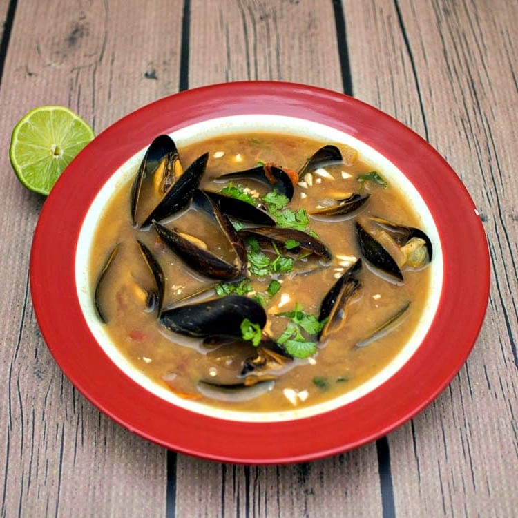 Vatapa with Mussels - a Brazlian Inspired seafood stew with mussels