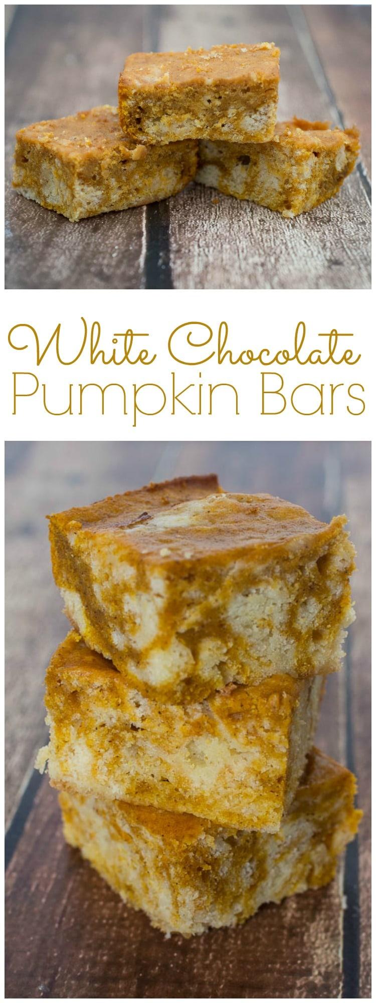 White Chocolate Pumpkin Bars | Pumpkin Treats | Easy Recipe for Pumpkin Bars | Chocolate Pumpkin Bars