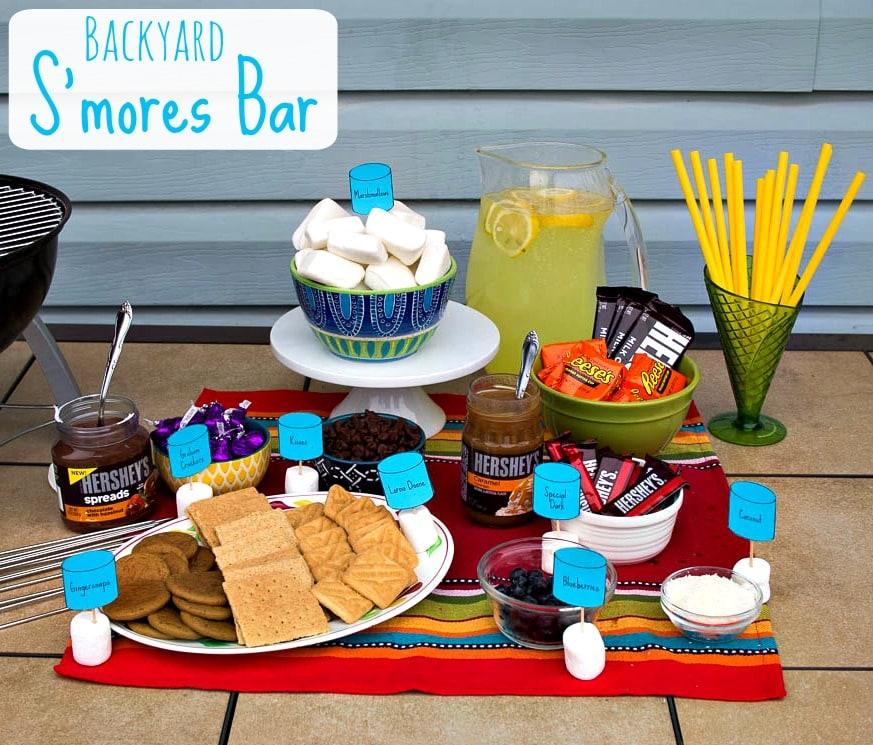 Backyard S'mores Bar for family fun