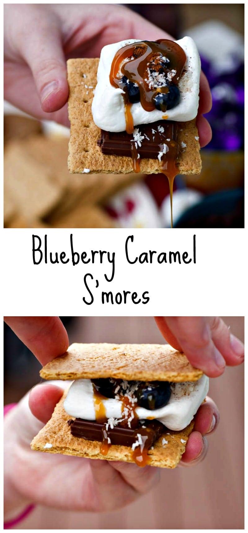 Blueberry Caramel Smores