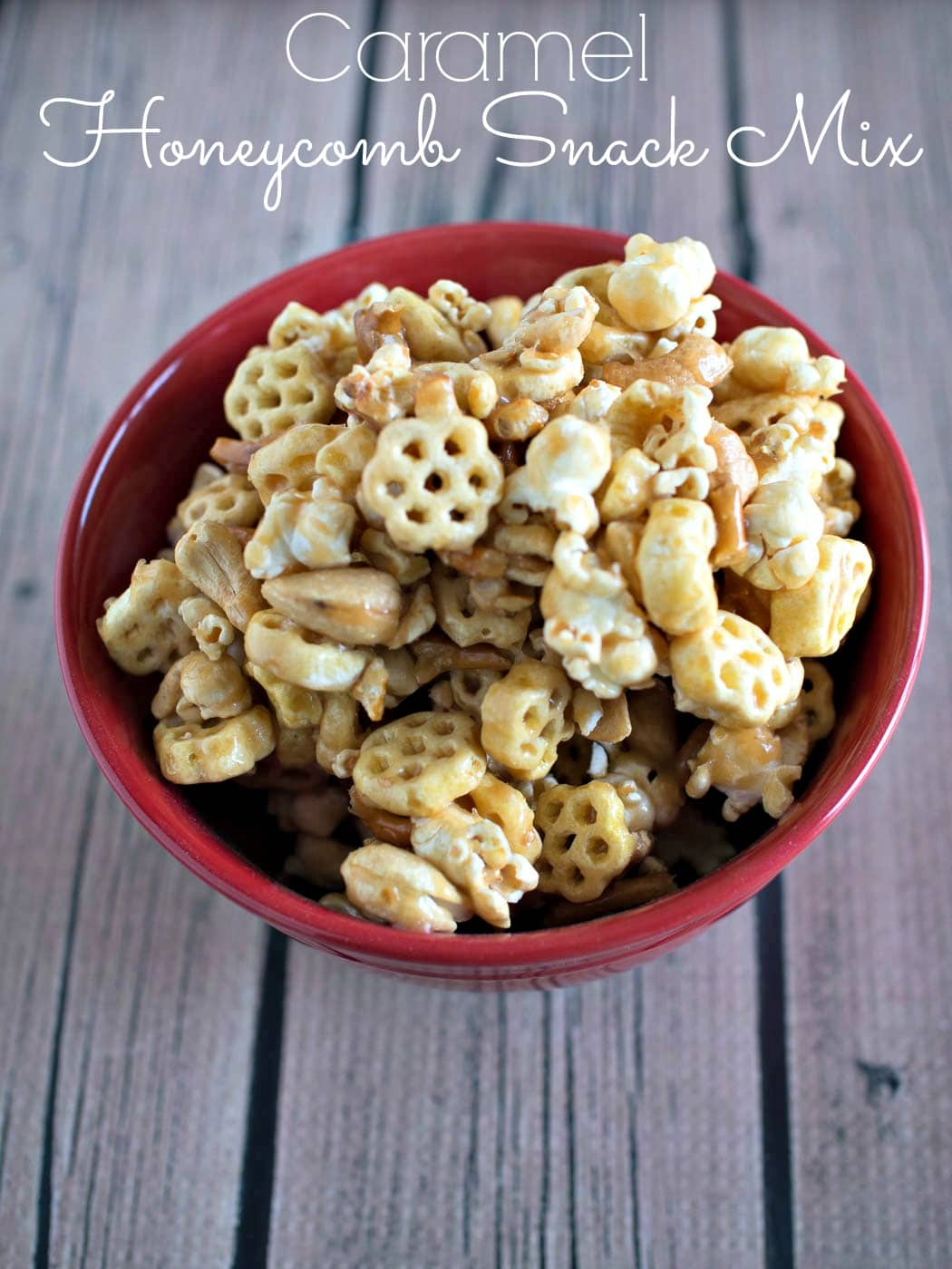 Caramel Honeycomb Snack Mix - a tasty snack made with Honeycomb cereal