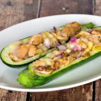 Tuna Stuffed Zucchini Boats