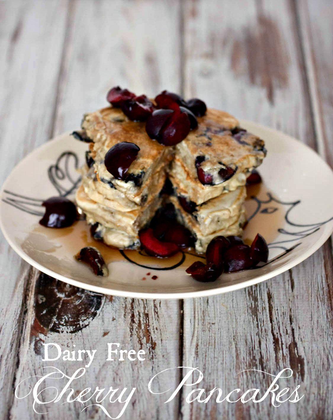 Dairy Free Cherry Pancakes