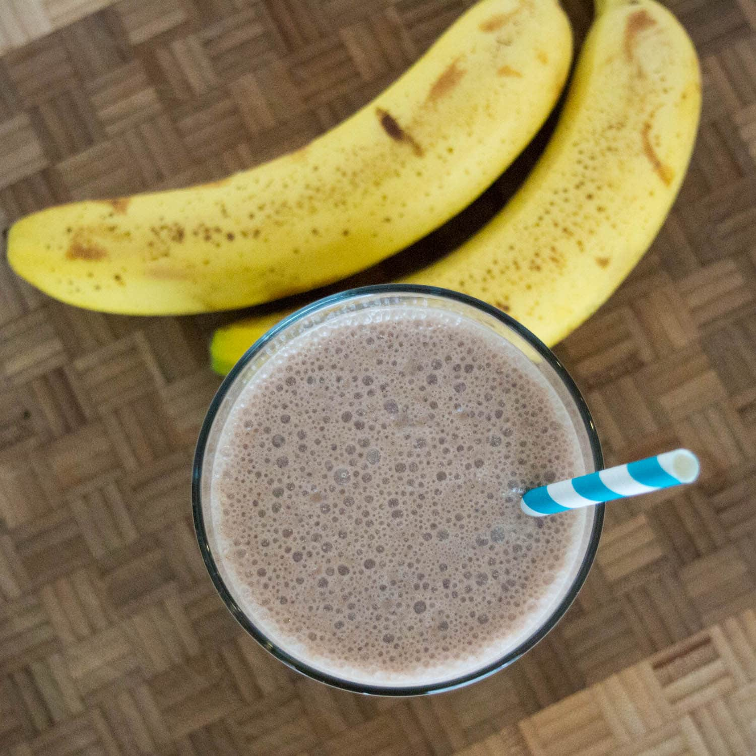 Chocolate Peanut Butter Smoothie - a dairy free smoothie using Cashew milk, banana and peanut butter