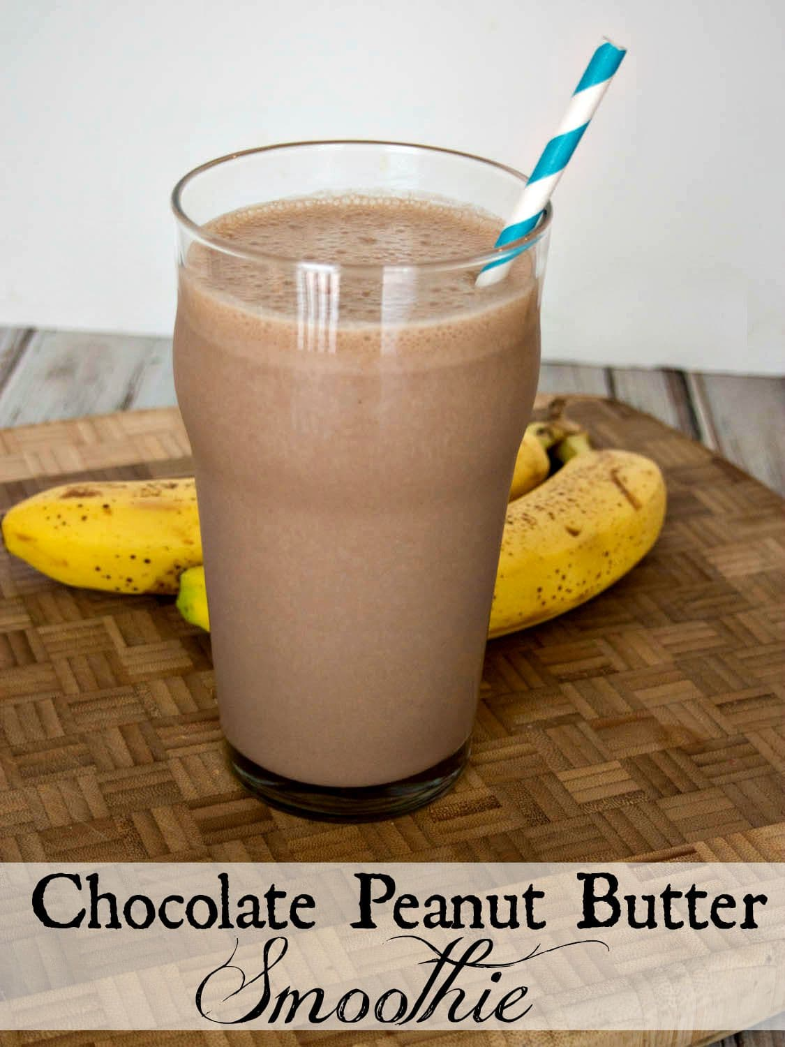 Chocolate Peanut Butter Smoothie - a creamy dairy free smoothie made with cashew milk, banana and peanut butter