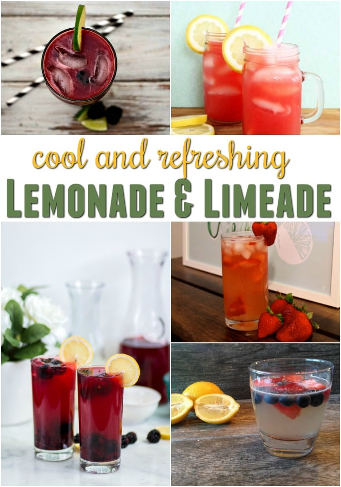 Lemonade and Limeade Recipes | Cool and Refreshing Summer Drinks | Lemonade Recipe Easy | Easy Limeade Recipe | Fruity Summer Drinks