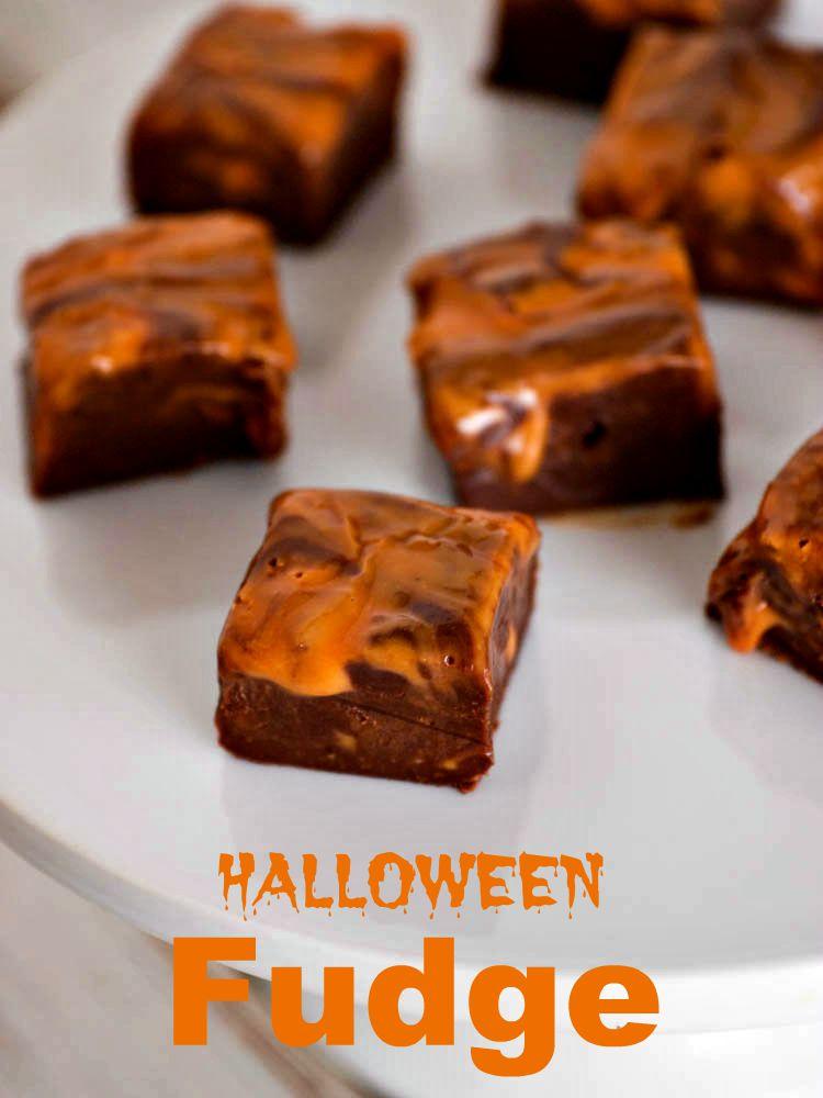 Easy Microwave Halloween Fudge Recipe