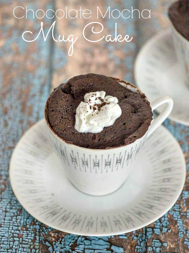 Chocolate Mocha Mug Cake - an easy microwave recipe for making a mocha mug cake