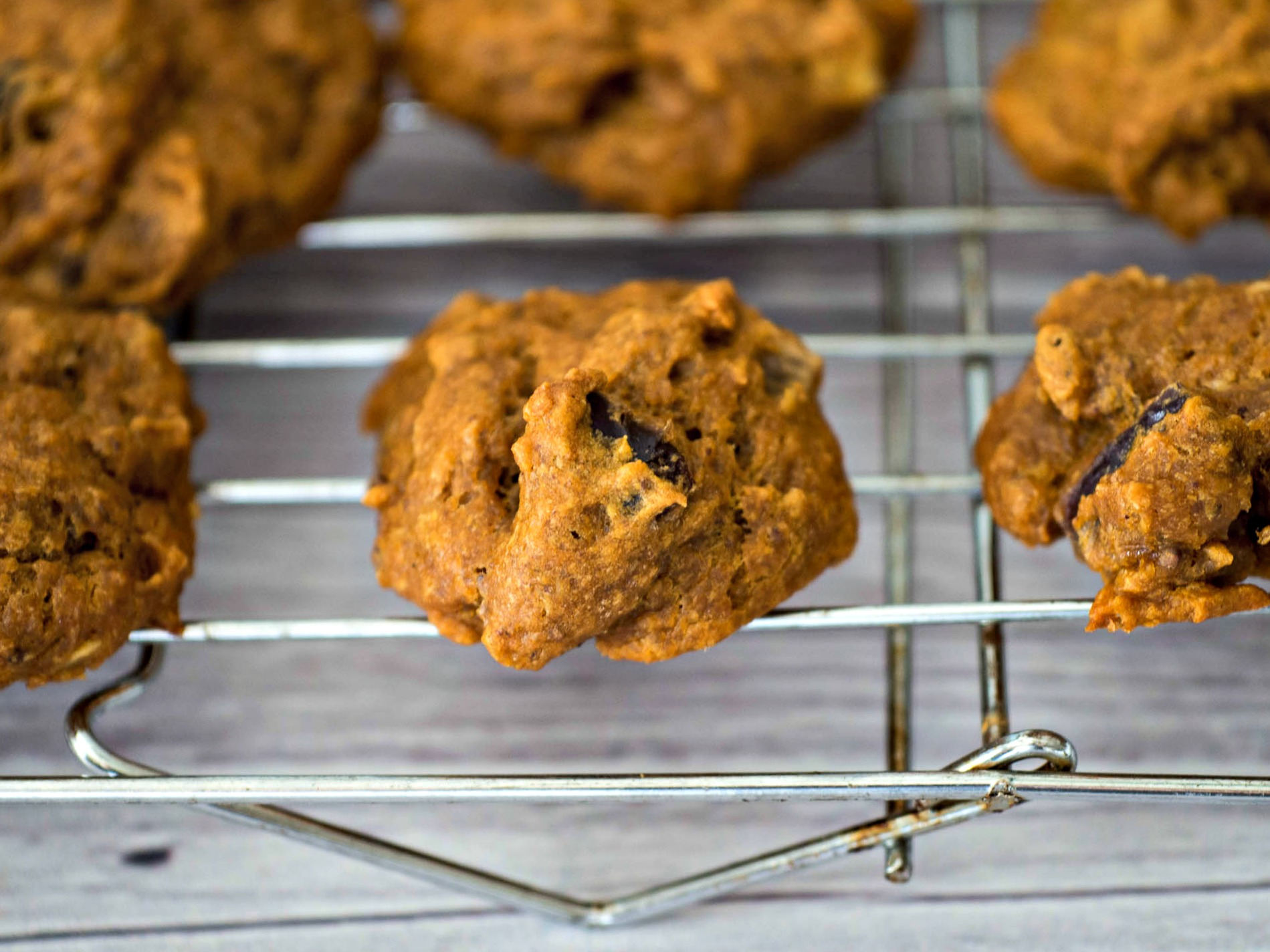 Pumpkin Date Cookies - a moist and chewy cookie that combines pumpkin with dates and pecans. A perfect seasonal treat for fall.