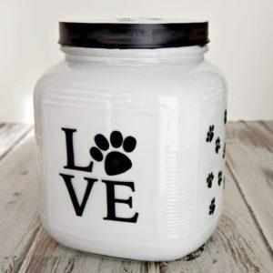 DIY Dog Treat Jar