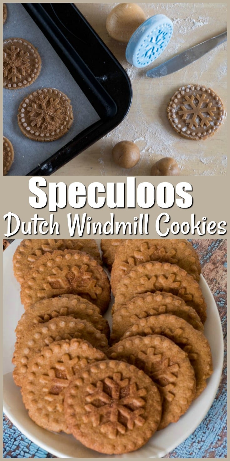 Speculoos - Dutch Windmill Cookies - a traditional stamped cinnamon and spice infused cookie from the Netherlands and Belgium