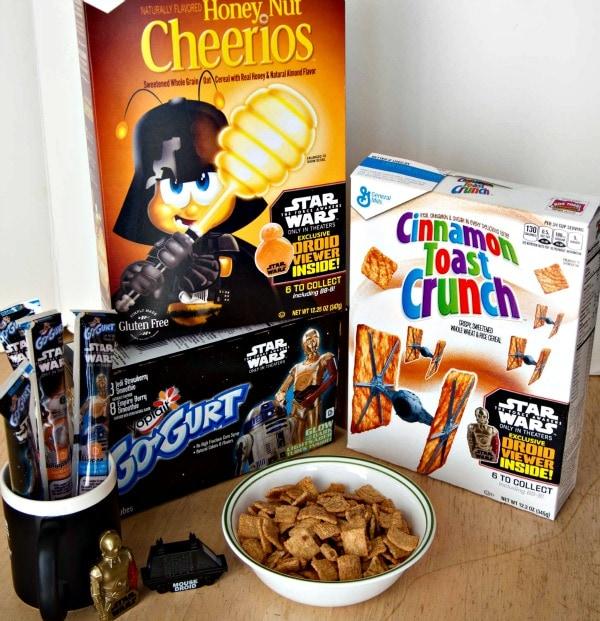 Star wars cereal and yogurt