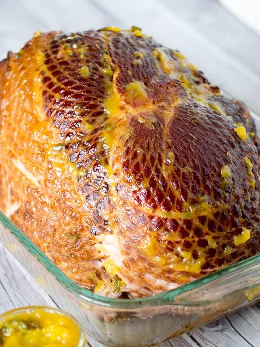 Ham with Mango Jalapeño Glaze