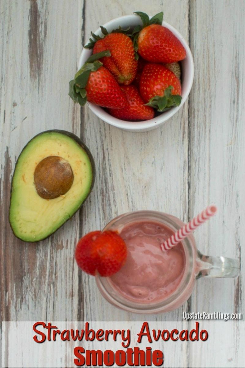 Dairy free avocado strawberry smoothie recipe