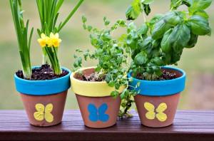 Thumbprint Flower Pot